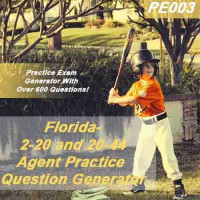 Florida: 2-20 and 20-44 Agent Practice Question Generator